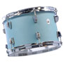"skyline blue - ludwig neusonic 3 piece shell pack with 22"" bass drum"