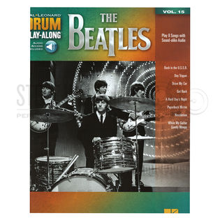 hal leonard drum play-along-the beatles vol. 15 (audio access included)