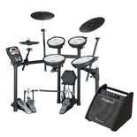 roland td-11kv-s v-drums compact series electronic drum kit with free pm100 amplifier