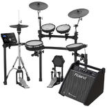 roland td-25k-s v-drums electronic drum set with free pm100 personal amplifier