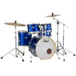 pearl export exx 5 piece drum set with hardware and cymbals - 20′ bass drum