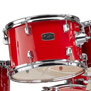 yamaha rydeen drumset w/hardware & liberty one cymbal pack 20,10,12,14,14x5.5 - red
