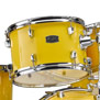 yamaha rydeen drumset w/hardware & liberty one cymbal pack 20,10,12,14,14x5.5 - yellow