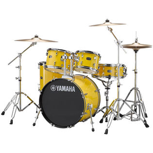 "yamaha rydeen 5 piece drum set with hardware and cymbals - 20"" bass drum"