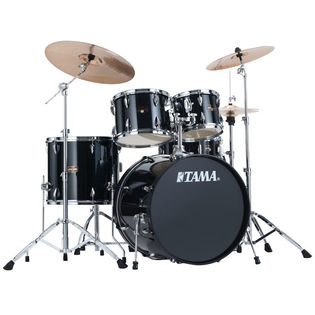 "tama imperialstar 5-piece drum set with hardware and meinl hcs cymbals - 20"" bass drum"