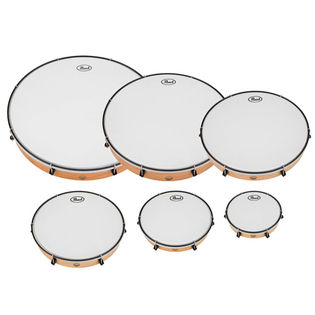 pearl frame drum complete set with smooth heads (set of 6)