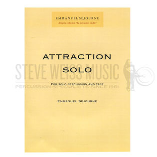 sejourne-attraction solo (solo part w/cd)-v/m/p/cd or ban