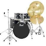 "pearl roadshow 5 piece drum set with hardware and liberty one cymbals - 22"" bass drum"