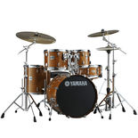 yamaha stage custom birch 5 piece drum set with hardware - honey amber (used demo)