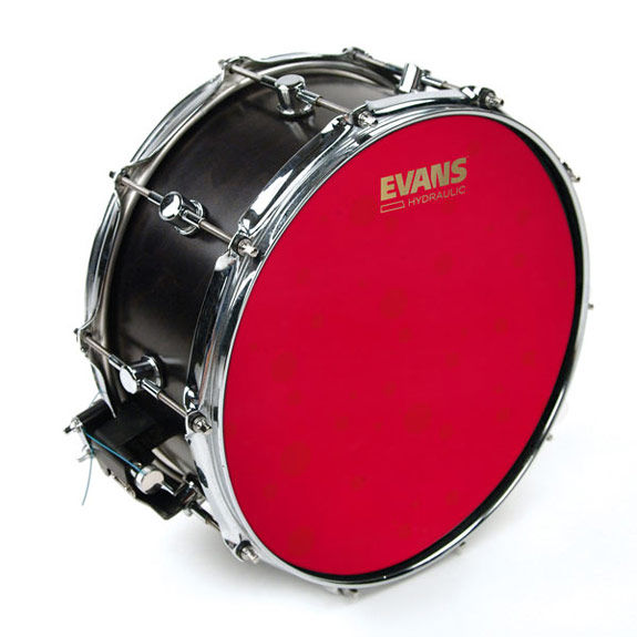 evans 14 hydraulic red coated snare drum head snare drum heads tom heads steve weiss music. Black Bedroom Furniture Sets. Home Design Ideas