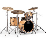 mapex saturn v exotic edition 3 piece shell pack - natural maple burl