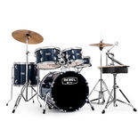 "mapex rebel complete junior 5 piece drum set with hardware - 18"" bass drum"