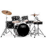 "Mapex Rebel Complete Junior 5 Piece Drum Set with Hardware - 18"" Bass Drum Alternate Picture"