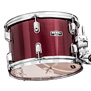 mapex rebel 5pc complete drum set w/ hw, cymbals, throne 22 bd  burgundy (dr)""