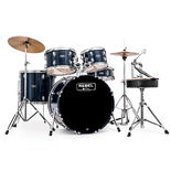 "Mapex Rebel Complete SRO 5 Piece Drum Set with Hardware and Cymbals - 22"" Bass Drum Alternate Picture"