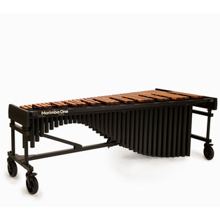 marimba one 5.0 octave wave series marimba with traditional keyboard and basso bravo resonators