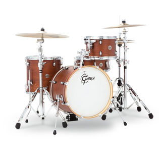 "gretsch catalina club jazz 4 piece shell pack with free cymbals - 18"" bass drum"