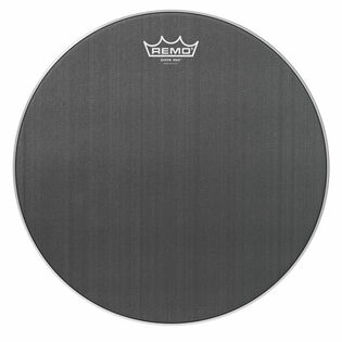 remo suede max marching snare drum head - black