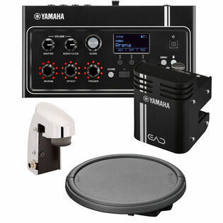 yamaha ead10 bundle 3 with drum trigger, drum pad and mounting hardware