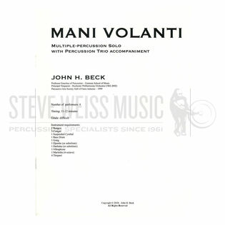 beck-mani volanti (sp)-solo hand drums/v/m/4t/p