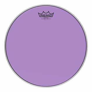 remo colortone emperor crimplock marching tenor drum head - purple