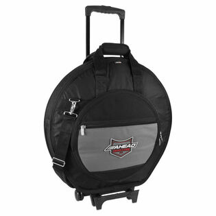 "ahead armor 24"" deluxe heavy duty cymbal case with wheels"