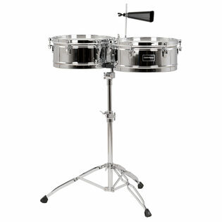 gon bops fiesta series timbale set with stand - 14/15