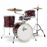 "gretsch energy street kit 4 piece drum set with hardware - 18"" bass drum"