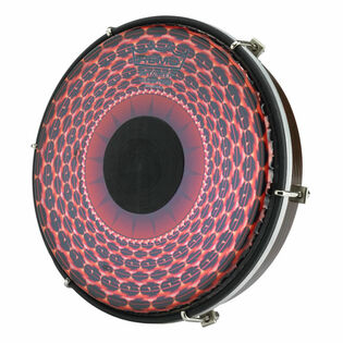 remo tablatone tunable frame drum - clear tone red radial graphic head