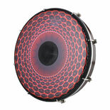 Remo Tablatone Tunable Frame Drum - Clear Tone Red Radial Graphic Head Alternate Picture