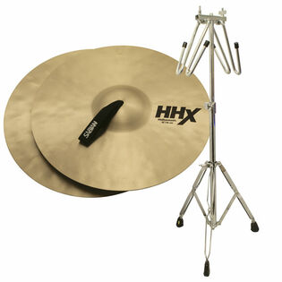 "sabian 18"" hhx philharmonic cymbals with free liberty one cymbal cradle stand"