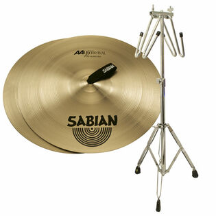 "sabian 18"" aa viennese cymbals with free liberty one cymbal cradle stand"