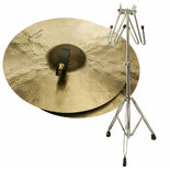 "sabian 18"" artisan traditional symphonic medium heavy cymbals with free liberty one cymbal cradle stand"