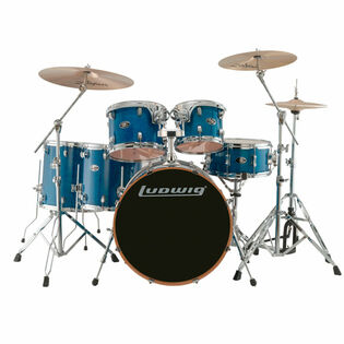 ludwig evolution maple 6 piece shell pack transparent blue (closeout pricing while supplies last)