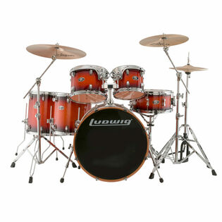 ludwig evolution maple 6 piece shell pack mahogany burst (closeout pricing while supplies last)