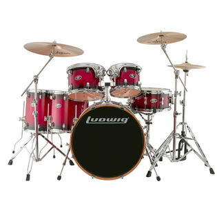 ludwig evolution maple 6 piece shell pack red burst (closeout pricing while supplies last)