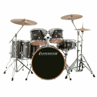 ludwig evolution maple 6-piece shell pack transparent black (closeout pricing while supplies last)