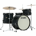 "tama s.l.p. big black steel 3 piece shell pack with 22"" bass drum"