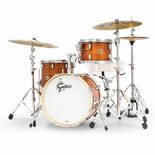 gretsch brooklyn series 3 piece shell pack - satin mahogany