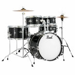 pearl roadshow jr 5 piece drum set with hardware and cymbals