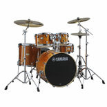 yamaha stage custom birch 5 piece drum set with hardware - natural wood finish (used demo)