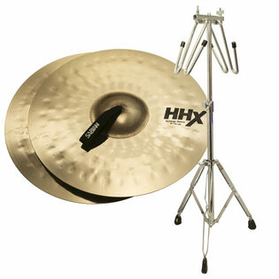 "sabian 17"" hhx synergy heavy cymbals with free liberty one cymbal cradle stand"