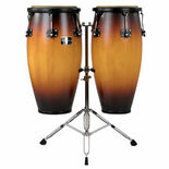 gon bops fiesta series conga sunburst finish set with stand