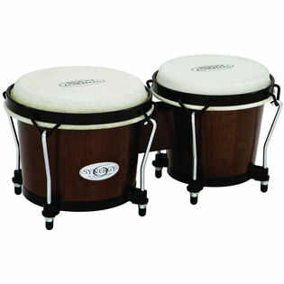 toca synergy wood bongos - tobacco