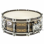 black swamp 25th anniversary engraved brass multisonic snare drum - 14x5