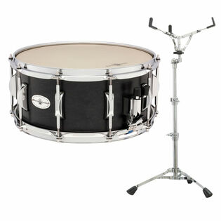 black swamp concert maple snare drum with free concert snare stand - 14x6.5