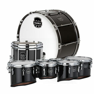 mapex eagles drumline - gloss black with chrome hardware (used demo)