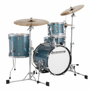 "ludwig breakbeats questlove 4 piece drum set with hardware and cymbals - 16"" bass drum"
