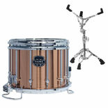 mapex 14x12 quantum xt marching snare drum crushed bronze finish with free s600 snare stand