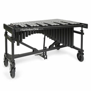 marimba one 3.0 wave vibraphone silver bars with motor, accessory bar and 8′ casters (used-demo)
